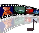 Filmstreifen - Musiknote - Filmmusik